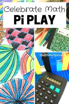 Pi activities circle math geometry STEAM activities for kids to play with Pi and celebrate math with national Pi Day. Awesome STEM for early elementary age kids and even kindergarten kids!