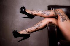 Love the dainty leg tattoos. Also THOSE SHOES THOUGH!