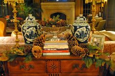 Chinoiserie Chic: Pine Cones and Chinoiserie