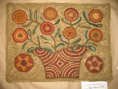 ANITA HOOKS RUGS~ another M Shaw Folk Art pattern, find at mshaw-folkart@yahoo.com