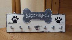 """Hund: Leinen - Sonstige - Leinenhalter, Leinengarderobe, """"Leinenparkplatz"""" - ein Designerstück von DekoHolzStube bei DaWanda"""