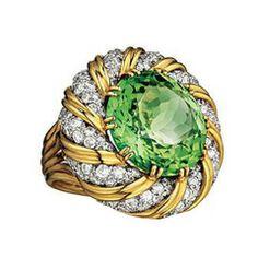VERDURA A Diamond Tourmaline  'Turban' Ring