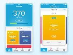 mPoints Mobile Rewards App Concept by Nickolay Yukhnov