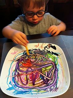 melting crayon on hot plate