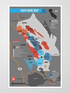 Napa Valley Wine Region Map wine / vinho / vino mxm