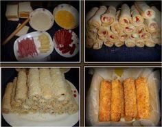Závitky so šunkou, syrom a kápiou