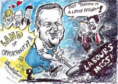 THE CONSERVATIVE PARTY conference took place in Manchester over four days straddling the end of September and the beginning of October. I was delighted to have been booked to be their 'official cartoonist'