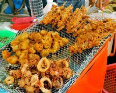 Filipino Food: Get Into the Streets: A Filipino Street Food Adventure Pinoy Street Food, Filipino Street Food, Pinoy Food, Filipino Food, Filipino Recipes, Asian Recipes, Pork, Food Trip, Favorite Recipes