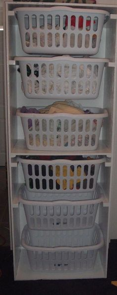 Stacked laundry baskets I have been wanting something similar to this, I think one fits my needs better.