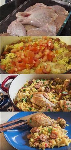 Receita de galinhada #galinhada #receitadegalinhada #galinha #almoço #jantar #receitas