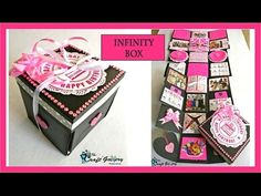 Birthday EXPLOSION BOX Gift:New Ideas & Combination Tutorial - YouTube
