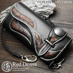 Rakuten: Python X cow Hyde riders wallet cowhide men long wallet wallet (RD-2)- Shopping Japanese products from Japan