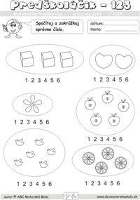 Matematika predškoláka - počítanie do 6 - pracovný zošit z abc materská škola