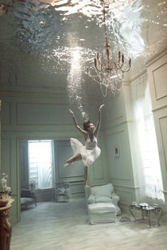 If the water level has reached the ceiling, it's probably time to find a plumber with a scuba certification