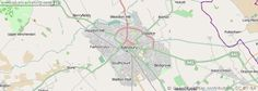 A detailed map of the town of Aylesbury in the UK.