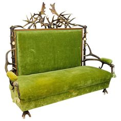 Antique Antler Sofa | From a unique collection of antique and modern sofas at https://www.1stdibs.com/furniture/seating/sofas/
