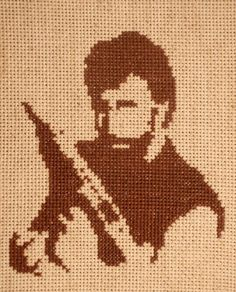 If I ever learn to crochet, this Chuck Norris blanket will be my first project.