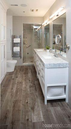 Heated floor tops a list of master bathroom ideas