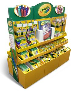 CRAYOLA POINT OF PURCHASE - BúsquedadeGoogle Pallet Display, Pop Display, Crayola, Point Of Purchase, Pop Tarts, Packaging, Snacks, Google Search, Store