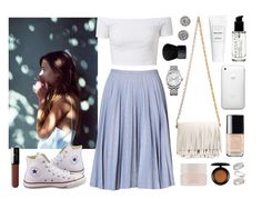 """""""Teresa Oman"""" by sophiehackett ❤ liked on Polyvore featuring Proenza Schouler, J.W. Anderson, Topshop, Converse, Nadri, Vincent Longo, Chanel, SUQQU, MAC Cosmetics and Calvin Klein"""