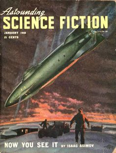 Astounding Science Fiction, Jan. 1948, cover by Hubert Rogers