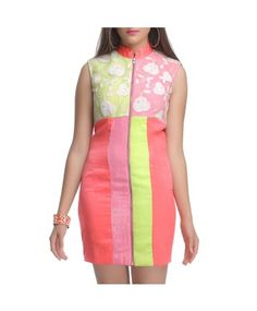 Green, Pink, Coral Dress #ohnineone #summerdress #dress #women
