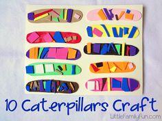 "Caterpillar craft to go with the book: Little Caterpillars,"" by Bill Martin Jr. list of several crafts with books Preschool Literacy, Preschool Crafts, Crafts For Kids, Easy Crafts, Preschool Teachers, Kindergarten Art, Toddler Crafts, Spring Activities, Toddler Activities"