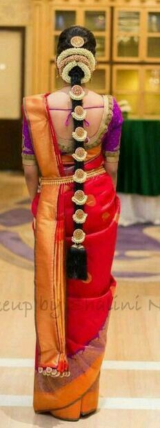 Indian Saree Bridal Hairstyles Ideas - You& come to the right place . - Ideas saree indian bridal hairstyles – You are at the right address for Beige Handbags We are - Bridal Hairstyle Indian Wedding, Indian Bridal Sarees, Bridal Hairdo, Indian Wedding Hairstyles, Indian Bridal Makeup, Indian Bridal Wear, Bride Hairstyles, Saree Hairstyles, Bridal Beauty