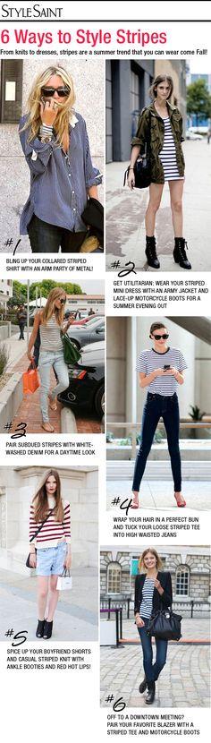 6 Ways to Style Stripes (via Style Saint)