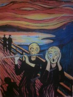 Munch - Scream for Flute (from Paul Edmund-Davies' article on intonation)
