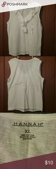 Hannah  top size  XL This is a new top with  tags.  The measurement are 22 inches from pit to pit and 26 inches in length. Hannah Tops