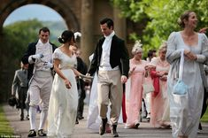 Fans of Jane Austen's literary classic Pride and Prejudice gathered at Derbyshire's Chatsworth House for a special ball to celebrate the anniversary of the publication of the romantic novel. Pride & Prejudice Movie, Mitford Sisters, Elizabeth Gaskell, Jane Austen Novels, Chatsworth House, Period Dramas, Change, Movie Stars, Dream Wedding