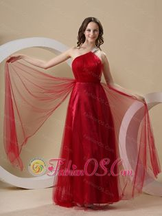 Beading Decorate One Shoulder Tulle Custom Made For Prom Dress- $135.48  http://www.fashionos.com  http://www.facebook.com/prom.fashionos.us  Sexy quality never goes out of style! This red prom dress is highlighted with one shoulder to support your shoulder in the high open back. The focus of this prom one is the tulle fabric which can comfort your skin. The drapping tulle fabric fall from waist on both side down to the floor, which create a romantic effect.
