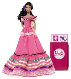 Barbie Collector Dolls Of The World Mexico Doll: Barbie doll is loved around the world and the Dolls of the World collection returns the love with Barbie dressed in aspirational versions of ancestral...