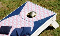 One of our favorite VV inspired cornhole boards!