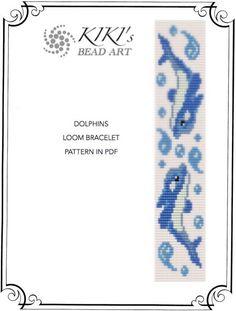 Bead loom pattern - Dolphins LOOM bracelet PDF pattern - instant download
