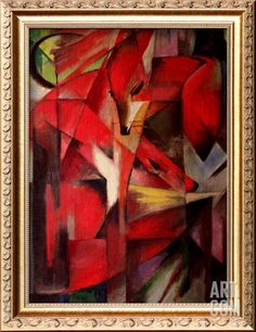 Franz Marc The Fox print for sale. Shop for Franz Marc The Fox painting and frame at discount price, ships in 24 hours. Franz Marc, Wassily Kandinsky, Museum Kunstpalast, Framed Art Prints, Painting Prints, Oil Paintings, Fox Painting, Pastel Paintings, Nature Paintings