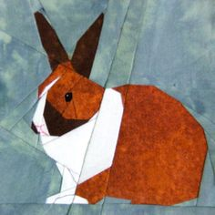 I'm so excited - the prettiest rabbit (paper pieced)!!!!  Links to site for sale, but a beautiful color combo!