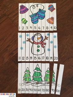Winter Fun Counting Number Puzzles - Kindergarten Smarts - - Winter Fun Counting Number Puzzles Winter Math Puzzles – Differentiated for all learners! Thema Winter Im Kindergarten, Kindergarten Math Activities, Winter Activities, Preschool Activities, Math Games, Preschool Winter, Preschool Classroom, Fun Math, Number Puzzles