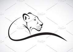 Vector of a lion female design. Vector of a lion female design on white background, Wild Animals. Business Illustration, Pencil Illustration, Simple Lion Tattoo, Lioness Tattoo, Female Lion, In The Zoo, Best Icons, Animal Heads, Creative Sketches