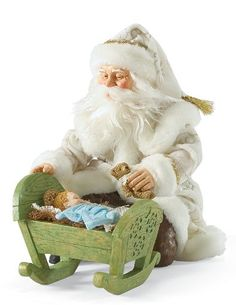 The Newborn King   Santa Claus Figurines and Hand Carved Wooden Santas