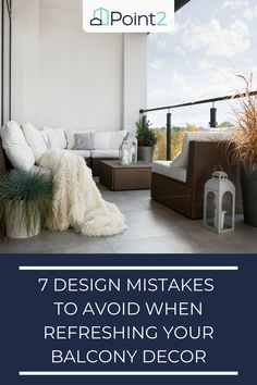 If you're lucky enough to have a balcony in your home, it's a great place for all manner of activities. From relaxing to dining, the balcony can fill any need. But, a few design mistakes can severely limit the space that you have, or lead to you not wanting to use your balcony as much as you could. With that in mind, we've come up with 7 design mistakes to avoid when refreshing your balcony decor! Home Design Decor, House Design, Manners, Great Places, Mistakes, Balcony, Fill, Relax, Activities
