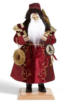 Lynn Haney 'Christmas Swirls' Santa Figurine available at #Nordstrom