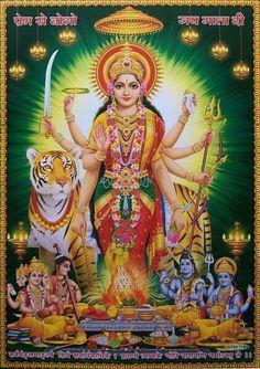 Durga Durga Maa, Shiva Shakti, Hippie Peace, Hippie Art, Shiva Songs, Krishna Janmashtami, Goddess Lakshmi, God Pictures, Krishna Images