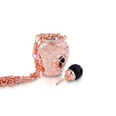 Disney Couture Rose Gold-Plated Alice in Wonderland Drink Me Perfume Bottle Necklace