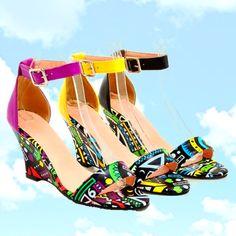 e3e0279411 21 Best wedge heel sneakers images | Heels, Shoes heels, Sneaker wedges
