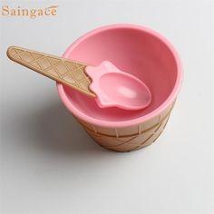 1 PC enfants bols de crème glacée crème glacée tasse Couples bol ...