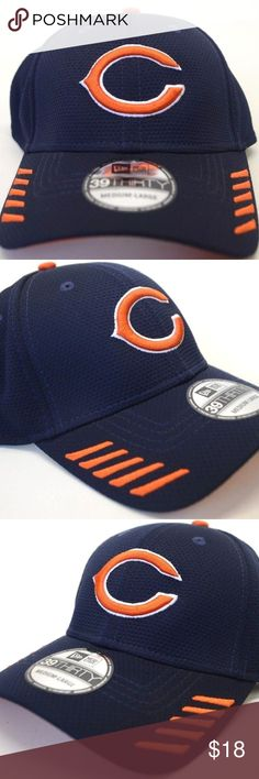 Men s New Era Chicago Bears 39Thirty Sz M L Cap NEW!! Men s New Era Chicago  Bears 39Thirty M-L Blue Stretch-Fit Cap Stretch-Fit Closed back style with  ... 09786caa8