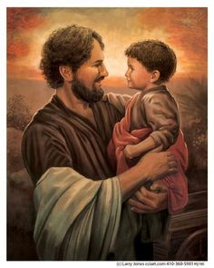 Joseph and Jesus - Larry Jones St Joseph Catholic, Catholic Art, Catholic Saints, Religious Art, Church Pictures, Religious Pictures, Jesus Pictures, Christian Images, Christian Art