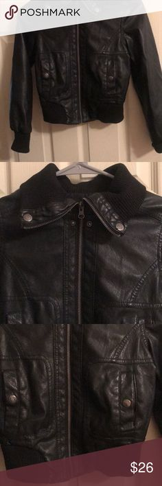 Cute girls leather jacket Black cute leather jacket used a handful of times price is final. Jackets & Coats